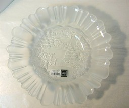 "Mikasa Holiday Classics Pressed Glass 10-1/2"" Bowl Retired Pattern - $13.50"
