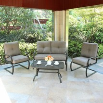 4 PC Patio Sectional Set Cushioned Outdoor Furniture Garden Coffee Table... - $379.99