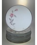 Noritake Rosemarie Salad Plates Set of 9 - $52.42
