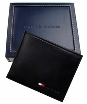 New Tommy Hilfiger Men's Leather Credit Card ID Passcase Wallet Black 31TL22X060 image 1