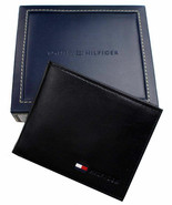 New Tommy Hilfiger Men's Leather Credit Card ID Passcase Wallet Black 31... - $24.70