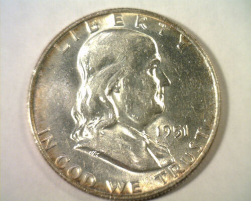 Primary image for 1951-D FRANKLIN HALF DOLLAR CHOICE ABOUT UNCIRCULATED CH. AU NICE ORIGINAL COIN