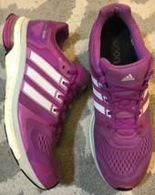 Adidas Adistar Boost Womens US 10 Grey Purple Lightweight Lace Up Running A7 - $19.79