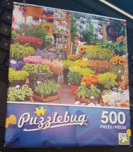 New Puzzlebug 500 Piece Jigsaw Puzzle The Flower Market Factory Sealed !!!  - $6.79