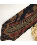 Karl Lagerfeld Paisley print men's silk business Tie - $34.95