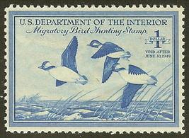 "RW15 - $1 Duck Stamp F-VF ""Buffleheads"" Mint NH Cat $60 - $34.64"