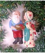 Hallmark Gift Exchange Mr & Mrs Claus Keepsake Christmas Tree Ornament 1... - $7.79