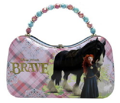 Disney Pixar Movie Brave Merida & Angus Girls Scoop Purse Carry All Tin ... - $14.46