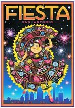 San Antonio Fiesta 2017 Poster 24 X 36 Inches Looks Beautiful - $19.94