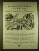 1931 Bell Telephone System Ad - The telephone plan of market coverage aids - $14.99