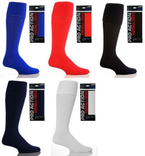 Mens Plain Football Hockey socks 6-11 uk Boot, 39-45 eur, 7-12 us  Red