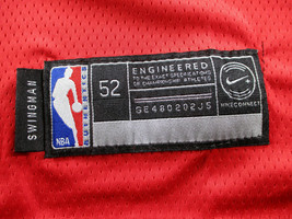 JAMES HARDEN / AUTOGRAPHED HOUSTON ROCKETS RED PRO STYLE BASKETBALL JERSEY / COA image 8