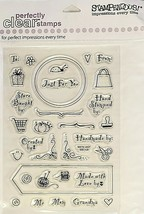 Stampendous Hand Crafted By Clear Cling Stamp Set #SCC108 - $6.99