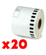 20 Roll 2-7/16 x 105ft 62mm DK-2205 Continuous Label Compatible Brother®... - $66.44