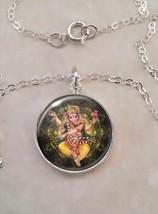 Sterling Silver 925 Pendant Necklace Ganesha Ganapati Vinayaka Binayak H... - $30.50+