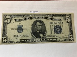 USA United States $ 5.00 banknote 1934 - $16.95