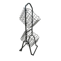 2-Tier Metal Market Basket Display Rack for Stores Offices Home Shoe Org... - $49.50