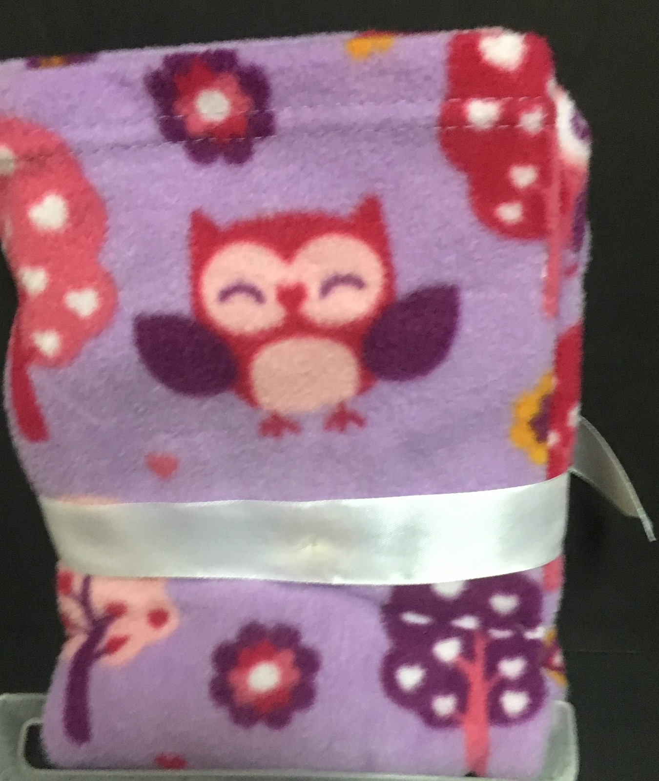 "Safety 1st Baby Blanket Purple Owls or Multi-Color Puppies 30"" x 30"""