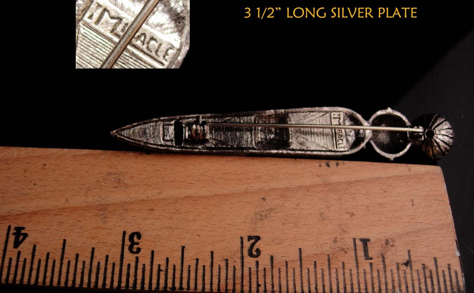 """LARGE Vintage Brooch Scottish Dirk Kilt pin - bloodstone  citrine agate 3 1/2"""" l image 6"""