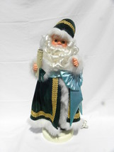 Rennoc Animated Motionette Old World Father Christmas Santa Claus Green ... - $89.99