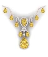 4.5Ct/SI2/F Round Cut Diamond Classic Necklace ... - $5,500.00