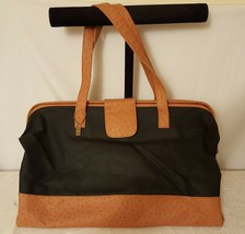 Doctors Style Brown/Black Leather Handbag/Purse - $84.15