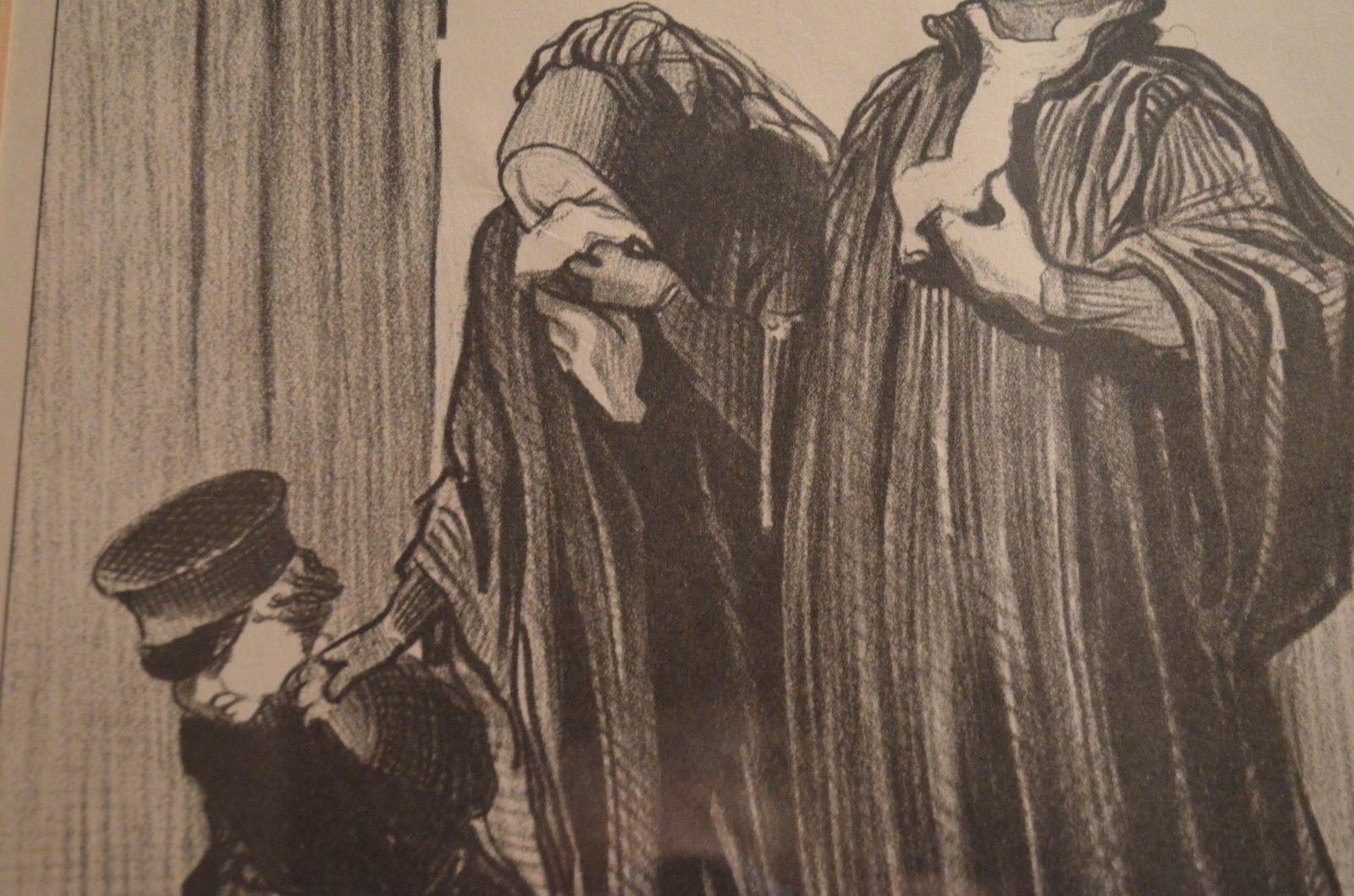 Les Gens de Justice -IT'S TRUE YOU HAVE LOST YOUR CASE..24x20 w/black wood frame
