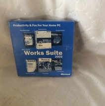 Microsoft Work Suite 2003 Cd New - $8.90