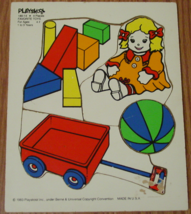 Puzzle Favorite Toys 1986 Playskool #180-14 4 Pieces Made In Usa Complete - $6.00