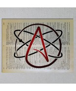 Atheist Symbol Choose Color Atheism Skeptic Dictionary Art Print - $11.00