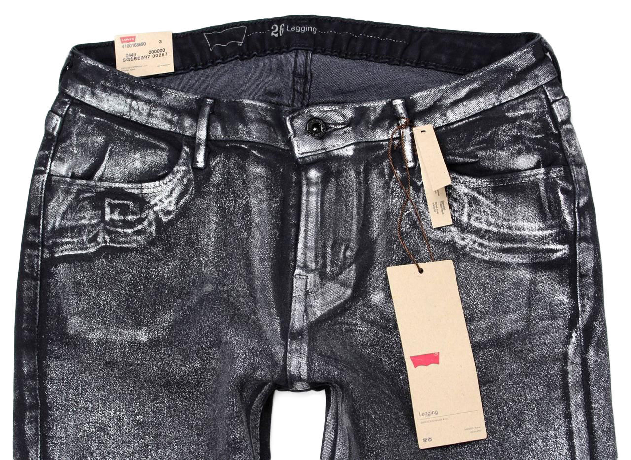 NEW NWT LEVI'S 535 JUNIOR'S PREMIUM CLASSIC SKINNY JEAN LEGGINGS BLACK 190050033