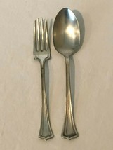 Oneida Silver Silverplate Serving Fork and Spoon Set of 2 Pieces Scotia ... - $24.99