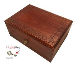 Large Wood Box Polish Handmade Jewelry Box Heart Keepsake Wedding Memories - €53,87 EUR