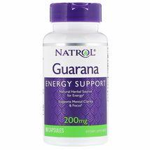 Natural GuaranaEnergy Support Natural Herbal Source 200 mg, 90 Capsules - $17.99