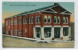Elks Club Victor Colorado 1910c postcard - $6.44