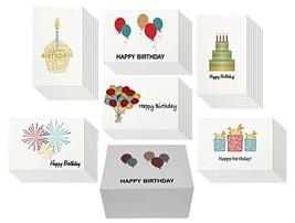 48 Happy Birthday Card Bulk Assortment Set – 6 Fun Designs with Blank In... - $14.42