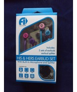 Fine Life Audio Products His & Hers Ear Bud Set Headphones - New - Blue - $12.34