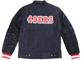 Levi's Strauss Men's NFL Team 49ERS Button Up Denim Jean Bomber Jacket 181930001 image 5