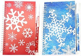 "Christmas Holiday Spiral Bound Journal Lined Notebook & Pen Set - 3"" x 6... - $9.89"