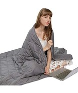 """XinMaxtor Weighted Blanket Grey, 60""""x80"""" 15 lbs Suitable for Adults and ... - $80.32"""