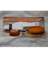 White Cake and Pie Server Cuts, Slices, Serves NIP - $9.90