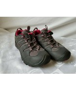 Keen Womens Sz 5 Koven Hiking Shoes Waterproof Grey and Red EUC Clean - $33.20