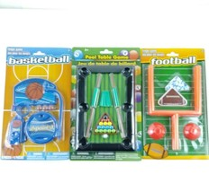 Lot of 3 Desk Top Sports Toy Games Football Basketball Pool Office Novel... - €16,52 EUR