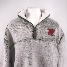 NWT NCAA Ole Miss Rebels Poodle Jacket !/4 Zipper University Size Large - $49.00