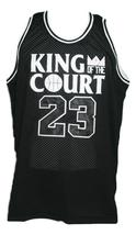 Michael Jordan King Of The Court Basketball Jersey New Sewn Black Any Size image 6