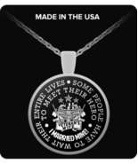 Veteran's Wife Necklace - Anniversary Gift Idea For Her - Romantic Gift ... - $19.95