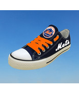 New york mets shoes womens ny mets sneakers baseball fashion canvas shoe... - $59.99