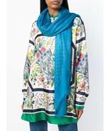 """NWT GUCCI blue GG pattern wool/ silk X-large scarf shawl 55"""" x 55""""; Rtl ... - $338.44"""