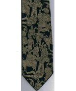 Moschino Necktie Wide Silver Navy Animation Characters 100% Silk - $44.92