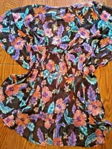 Miken Swim Tropical Yore Beach Cover Up Size Small image 2